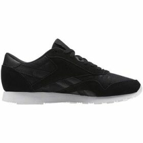 Reebok Sport  CL Nylon HS Blackwhite  women's Shoes (Trainers) in Black