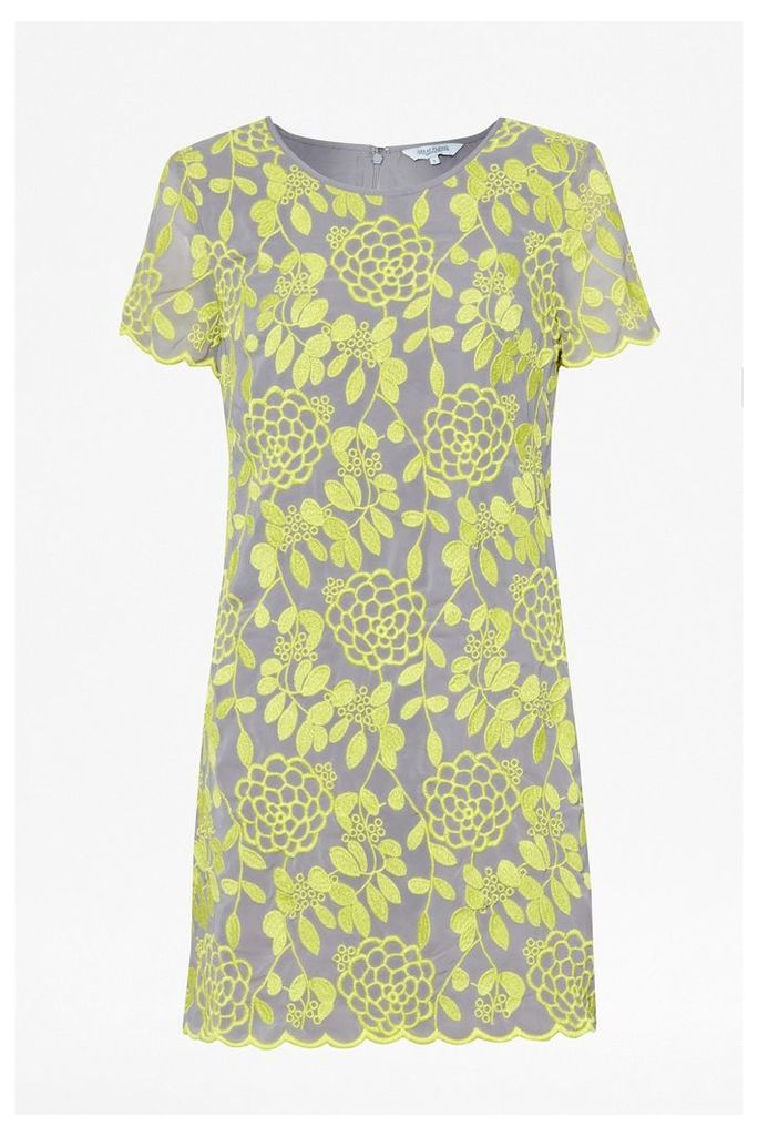 Chrysanthemum Embroidered Shift Dress