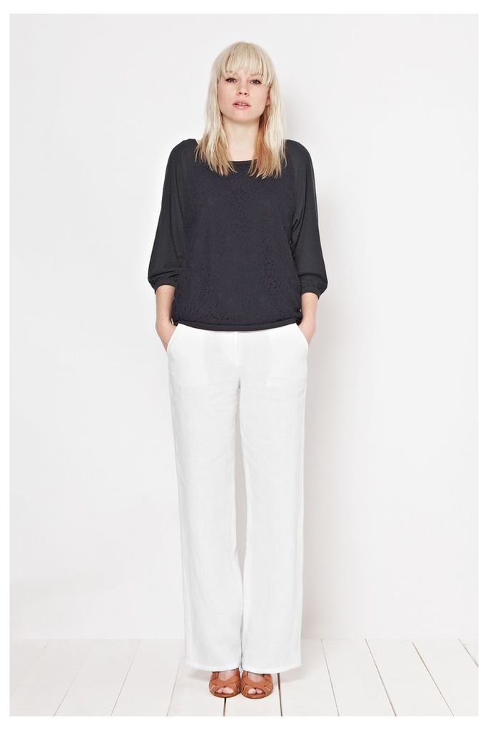 Whitby Linen Wide Leg Trousers