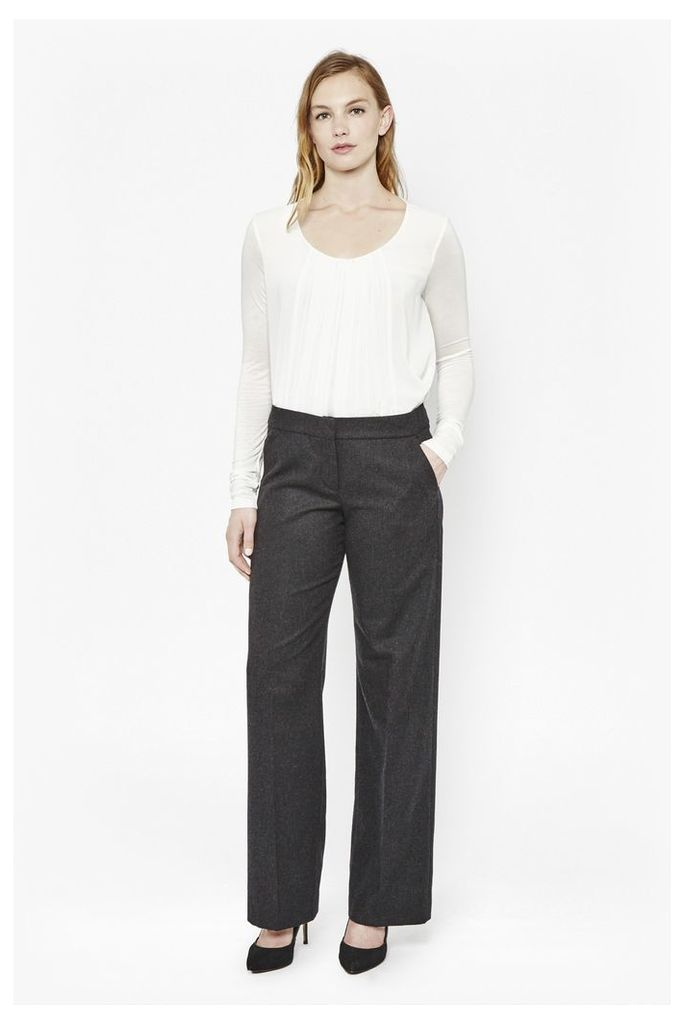 Elly Flannel Bootcut Trousers