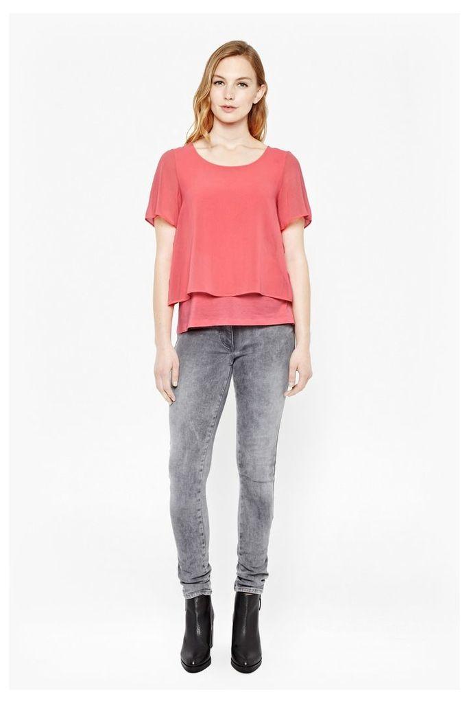 Featherweight Cotton Layered T-Shirt