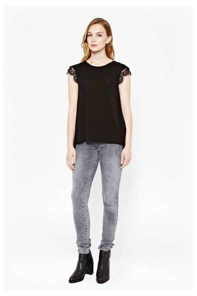 Pretty Pleated Lace Top