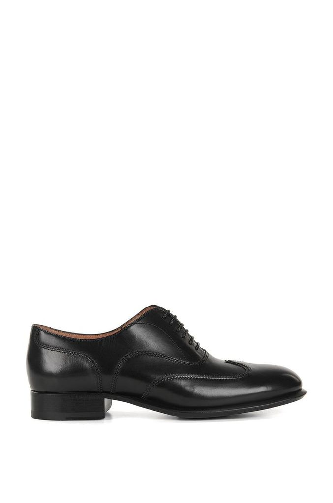 Lace-up leather formal shoes