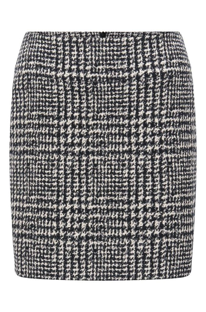 Mini skirt in an abstract check