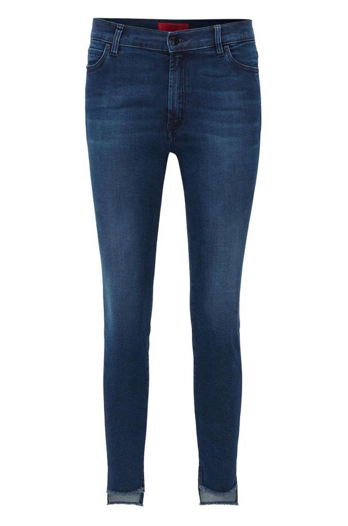 Extra-slim-fit super-stretch jeans with asymmetric hem