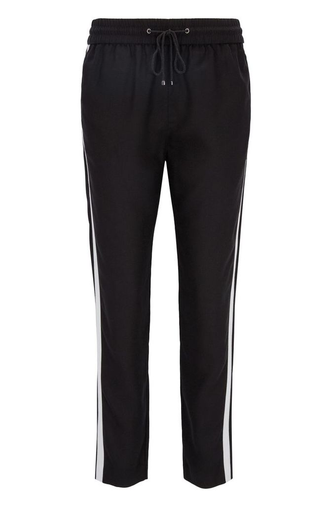 Regular-fit casual trousers in technical fabric
