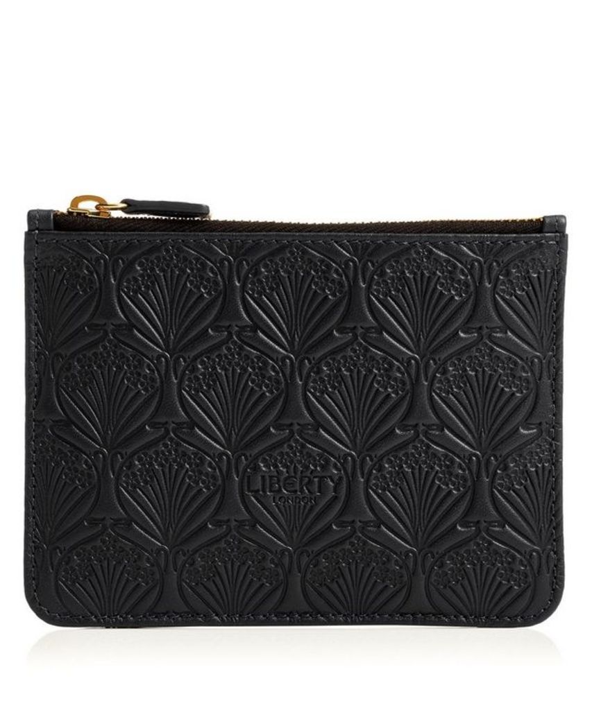 Coin Pouch in Embossed Leather