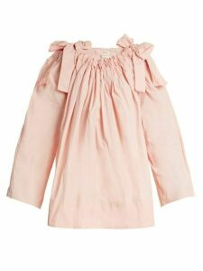 Maison Rabih Kayrouz - Scoop-neck Bow-detail Paper-taffeta Top - Womens - Pink