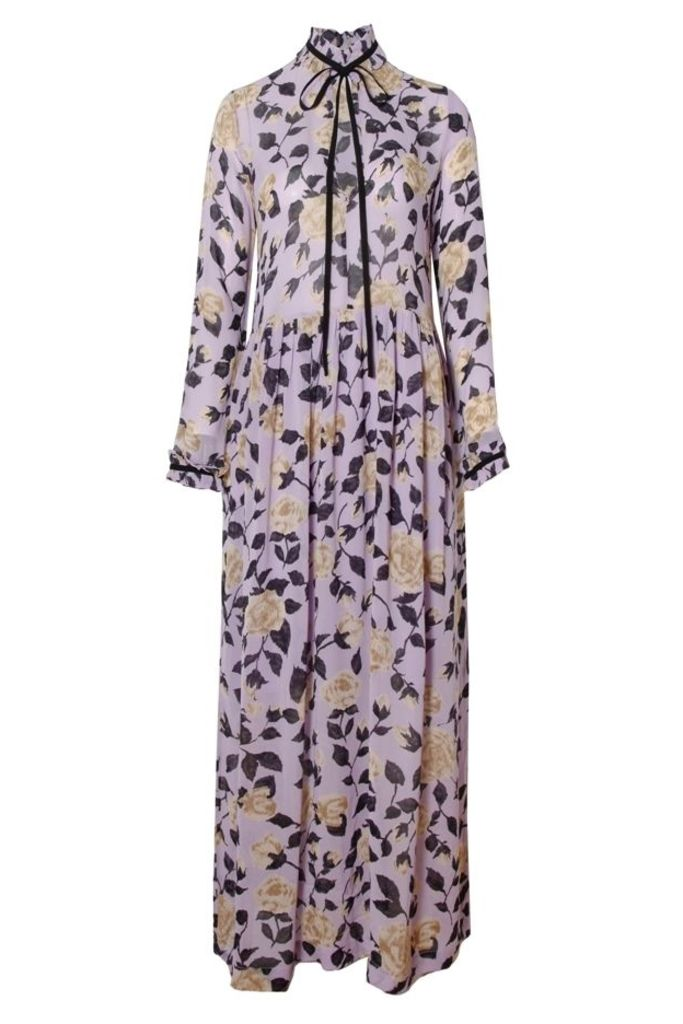 Carlton Georgette Maxi Dress Pastel Lilac