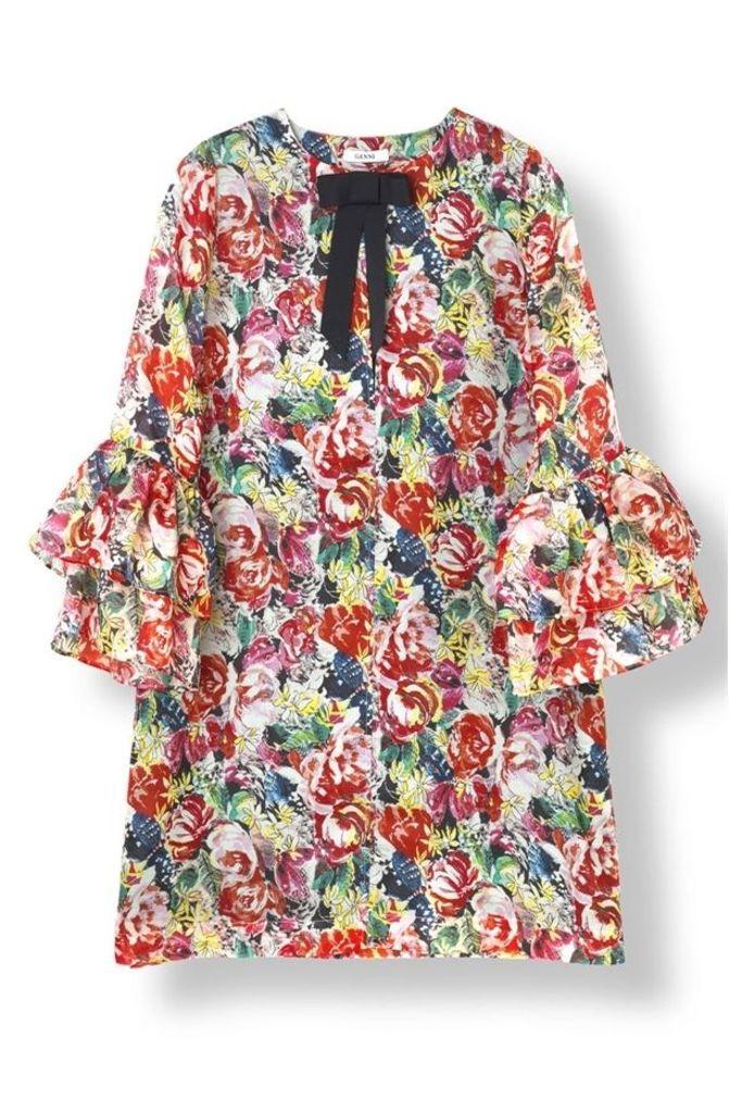 Seneca Silk Dress Multicolour