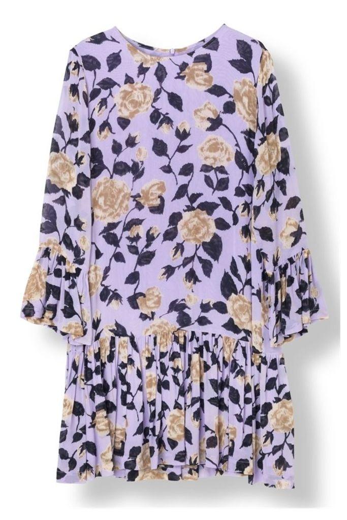 Carlton Georgette Dress Pastel Lilac