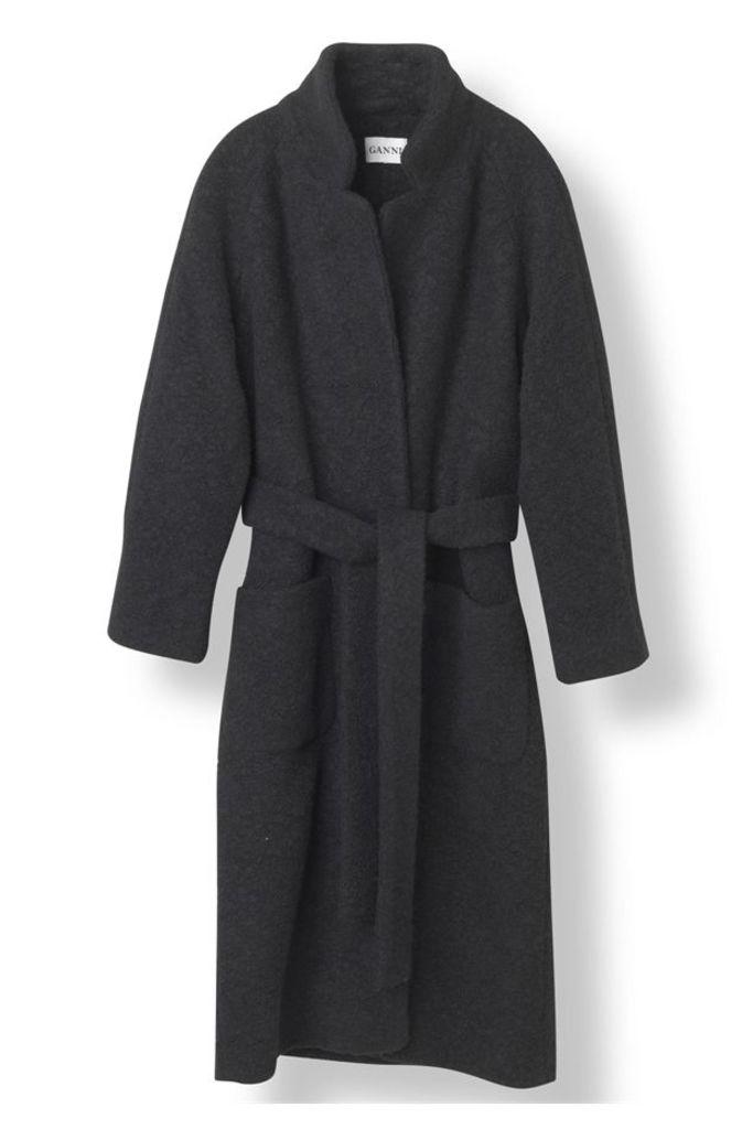 Fenn Long Wrap Coat Black