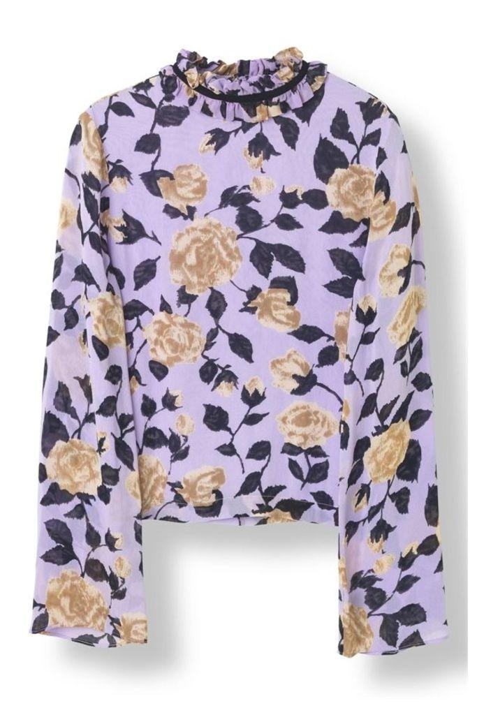 Carlton Georgette Blouse Pastel Lilac