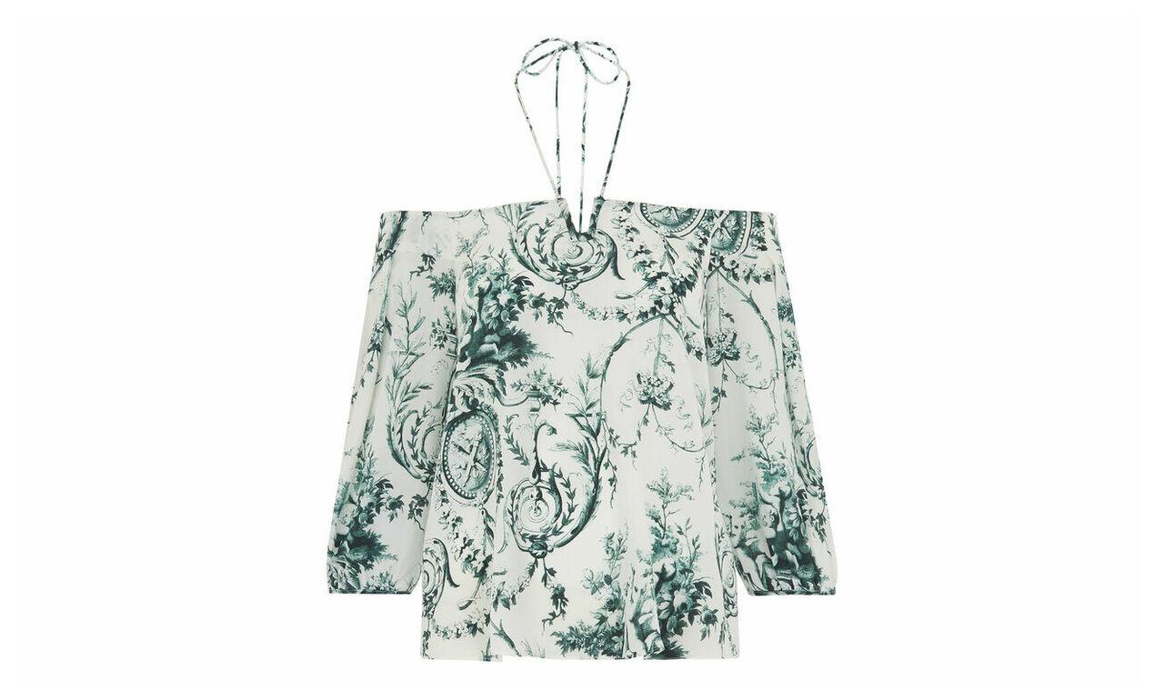 Effie Cold Shoulder Silk Top