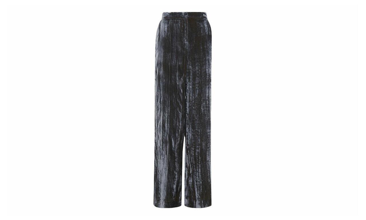 Crushed Velvet Wide Trouser