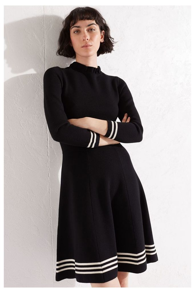 NEW Black Milano Knit Fit and Flare Dress