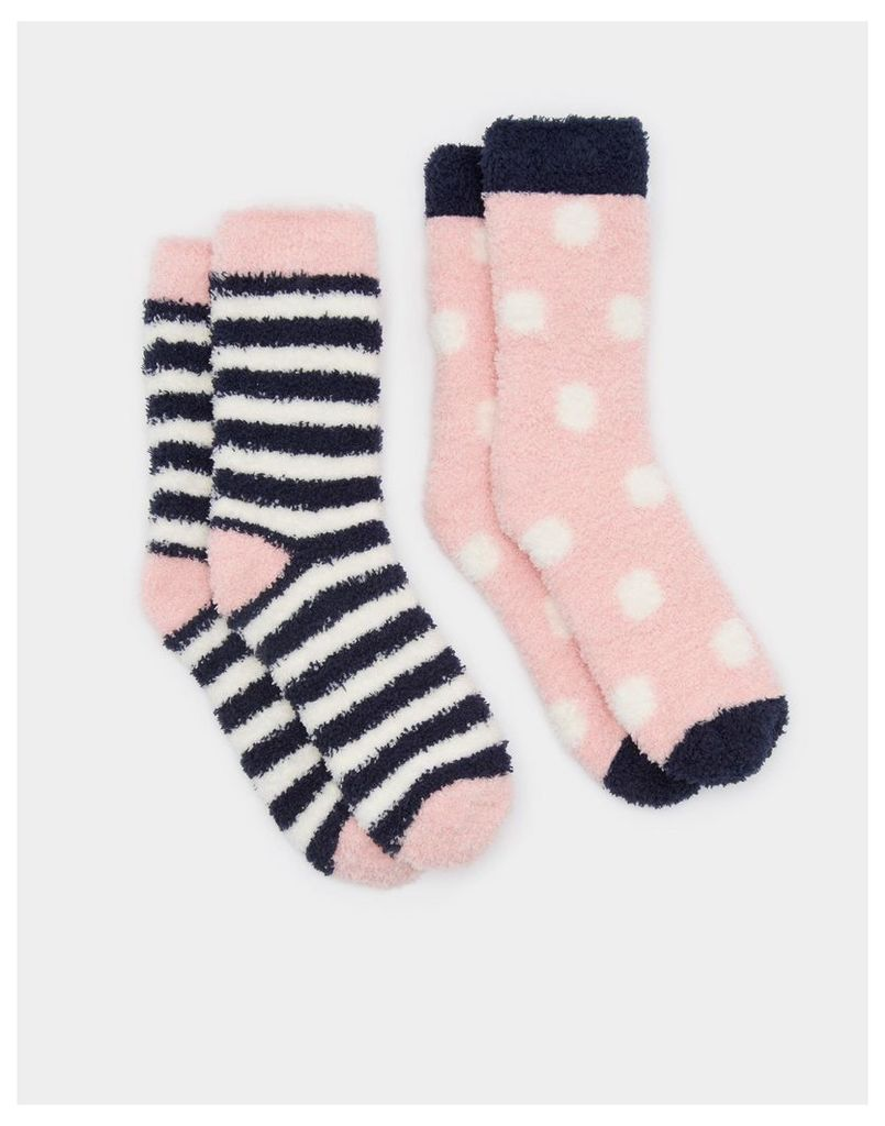 Soft Pink Fab shortie Socks Two Pack  Size Size 4-8   Joules UK