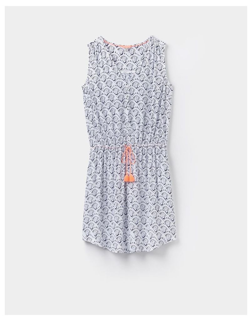 Bright White 124319 Womens Gather tie dress  Size 8   Joules UK