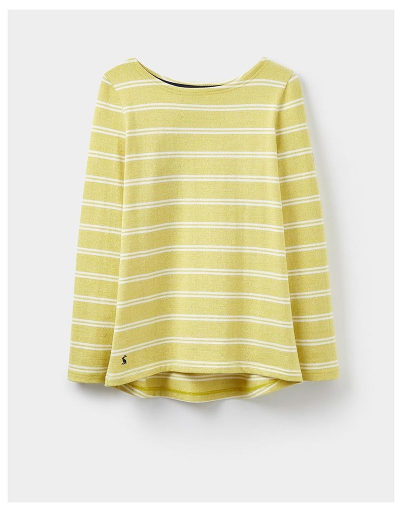 Sunshine Yellow 124162 Womens Long sleeve Harbour Jersey Top  Size 14   Joules UK