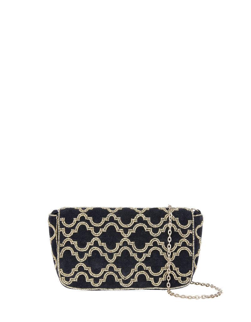 Nolita Velvet Baguette Cross Body Bag