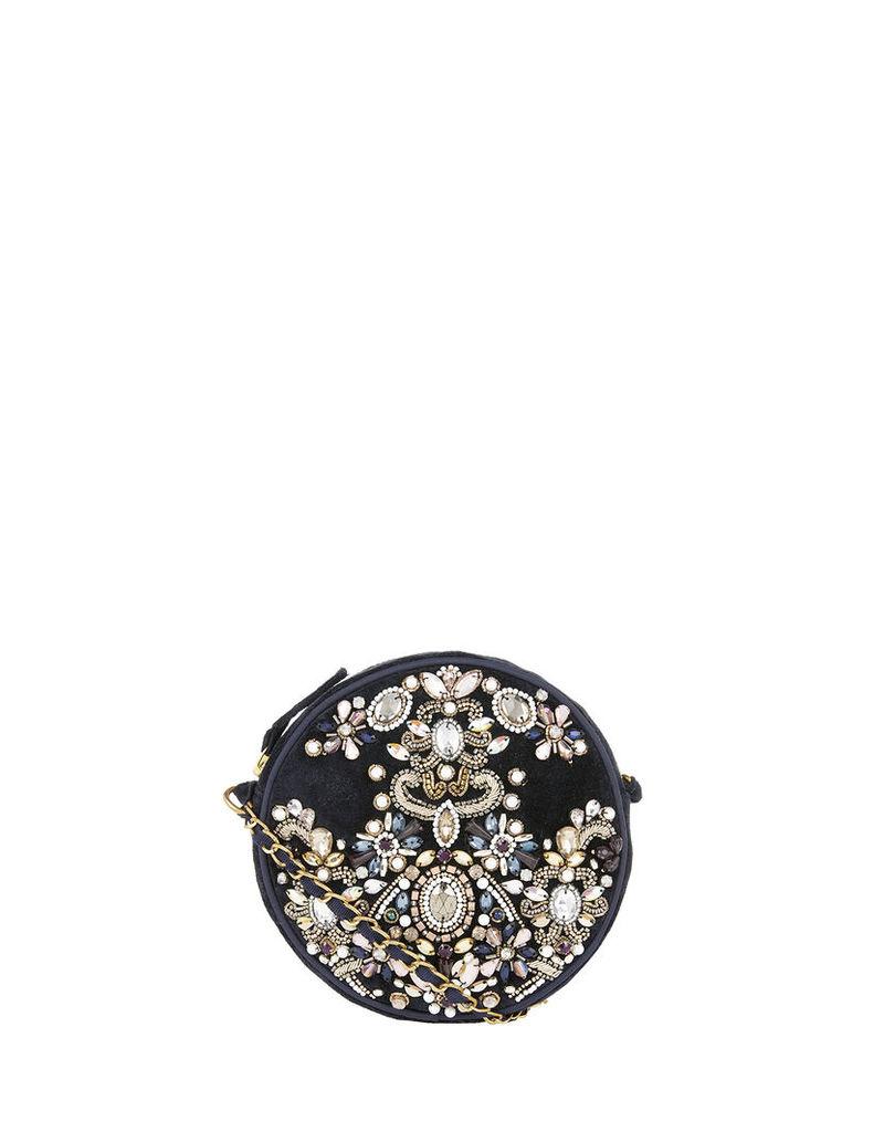 Baroque Jewelled Circle Cross Body Bag