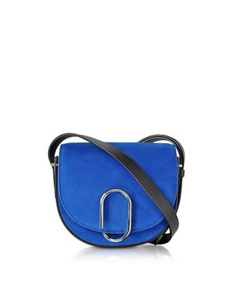 3.1 Phillip Lim - Electric Blue Suede Alix Mini Saddle Bag