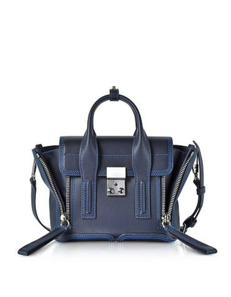 3.1 Phillip Lim - Navy & Electric Blue Pashli Mini Satchel