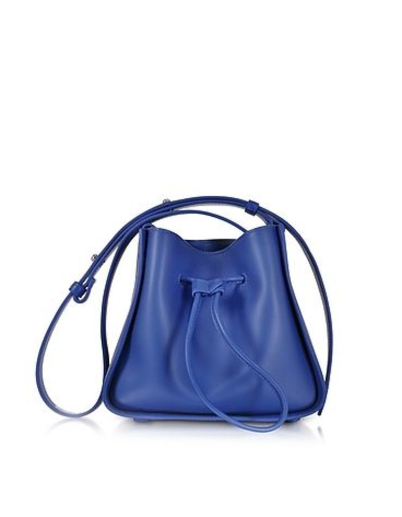 3.1 Phillip Lim - Cobalt Blue Soleil Mini Drawstring Bucket Bag