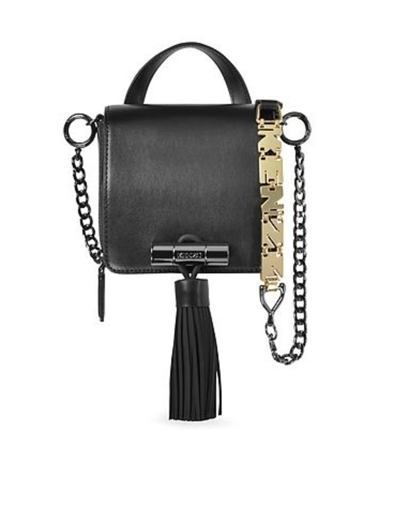 Kenzo - Sailor Black Leather Crossbody Bag w/Rubber Tassel