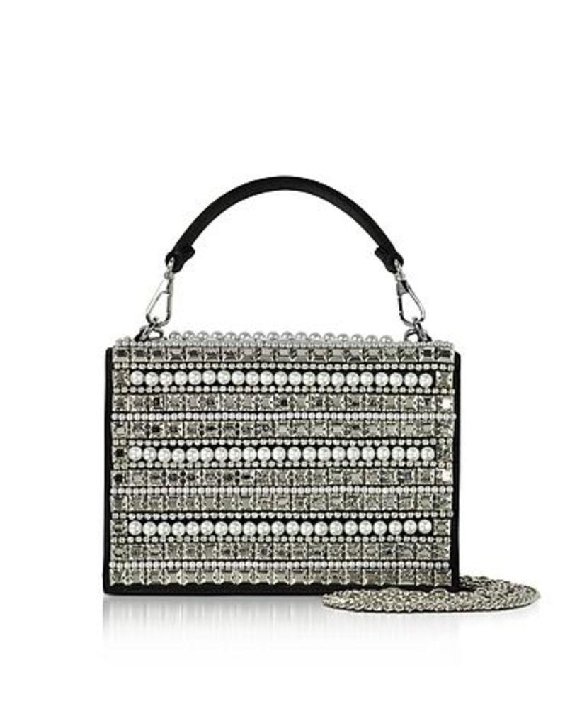 Rodo - Embellished Satin Silk Celebration Bag w/Top Handle