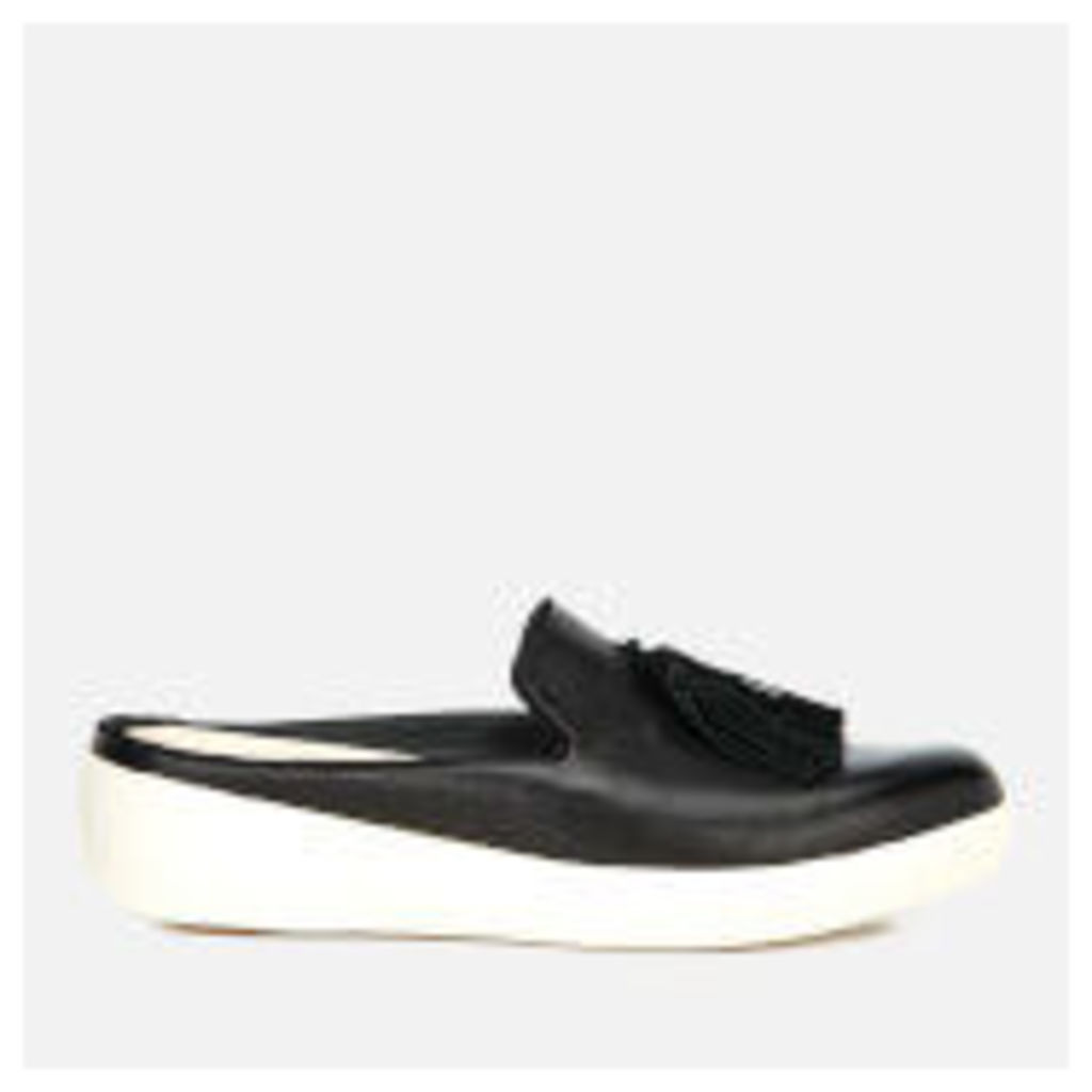 FitFlop Women's Superskate Slip-On Leather Flats - Black