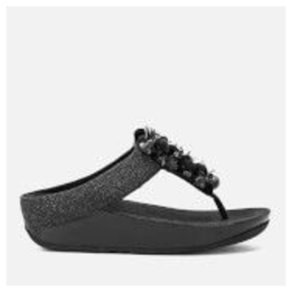 FitFlop Women's Boogaloo Toe-Post Sandals - Black