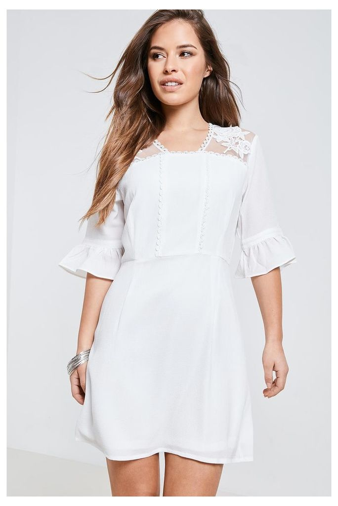 Fashion Union Lace Dress - White