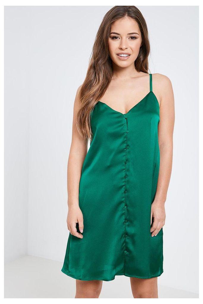 Fashion Union Slip Dress - Green