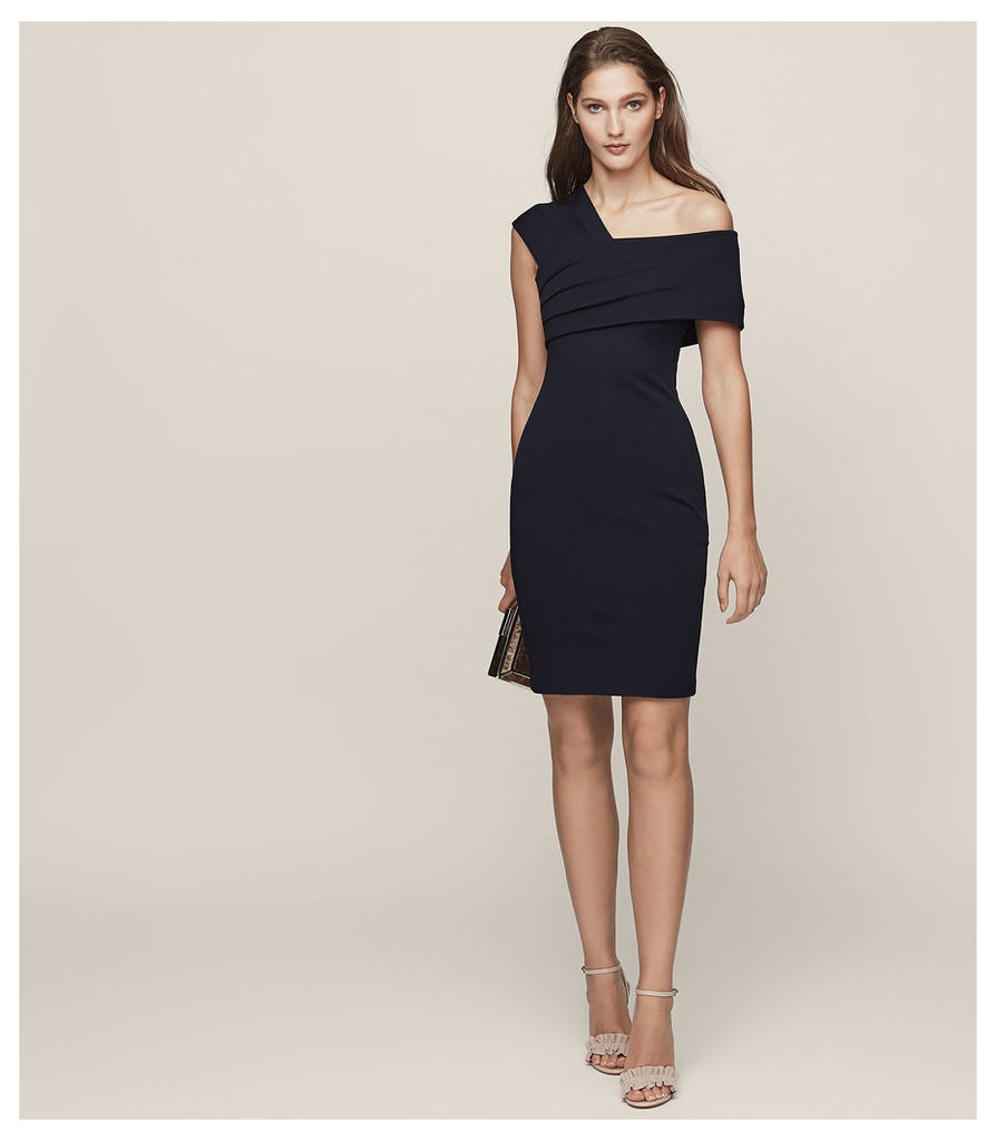 REISS Cristiana - One-shoulder Cocktail Dress in Blue, Womens