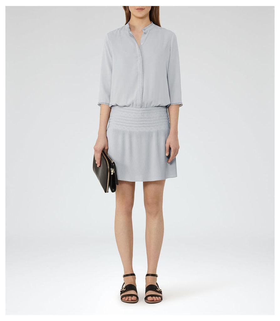REISS Bergamo - Pleat-detail Dress in Green, Womens