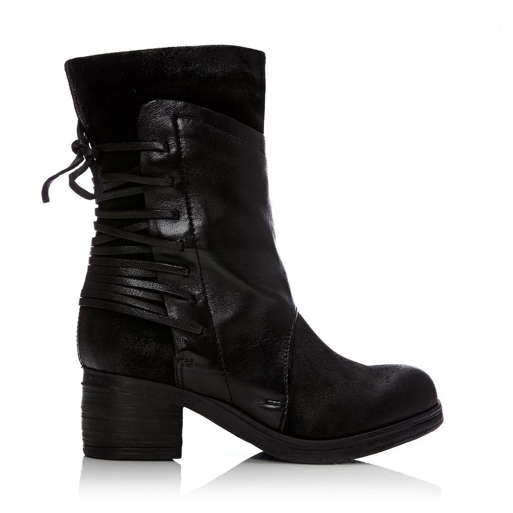 Moda in Pelle Galene Black Low Casual Short Boots