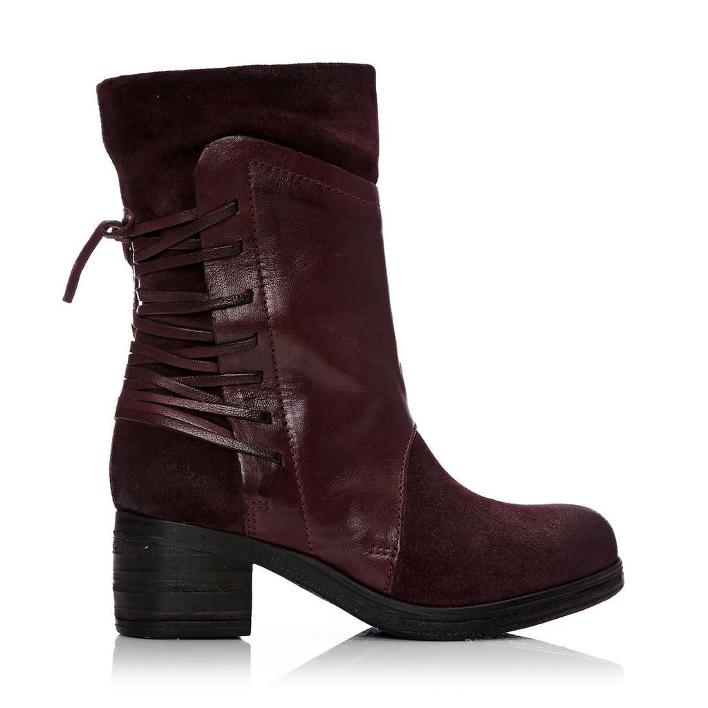 Moda in Pelle Galene Burgundy Low Casual Short Boots