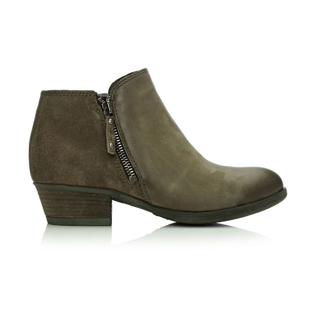 Moda in Pelle Besti Taupe Low Casual Short Boots