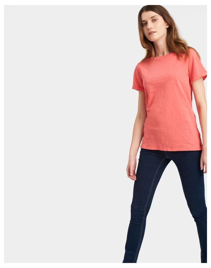 Soft Coral Nessa Jersey T Shirt  Size 18   Joules UK