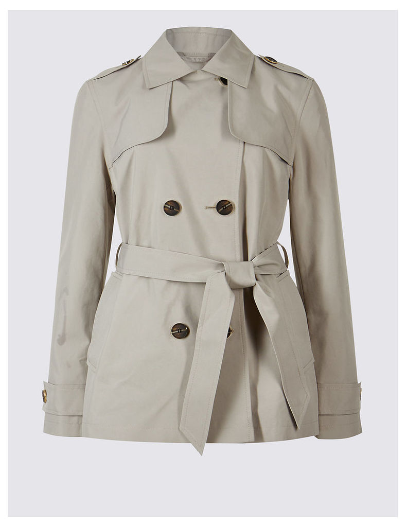 M&S Collection Belted Trench Coat with Stormwear