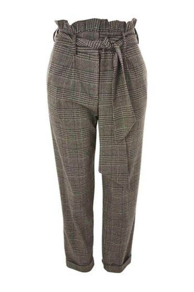 Womens Check Mensy Trousers - Grey, Grey