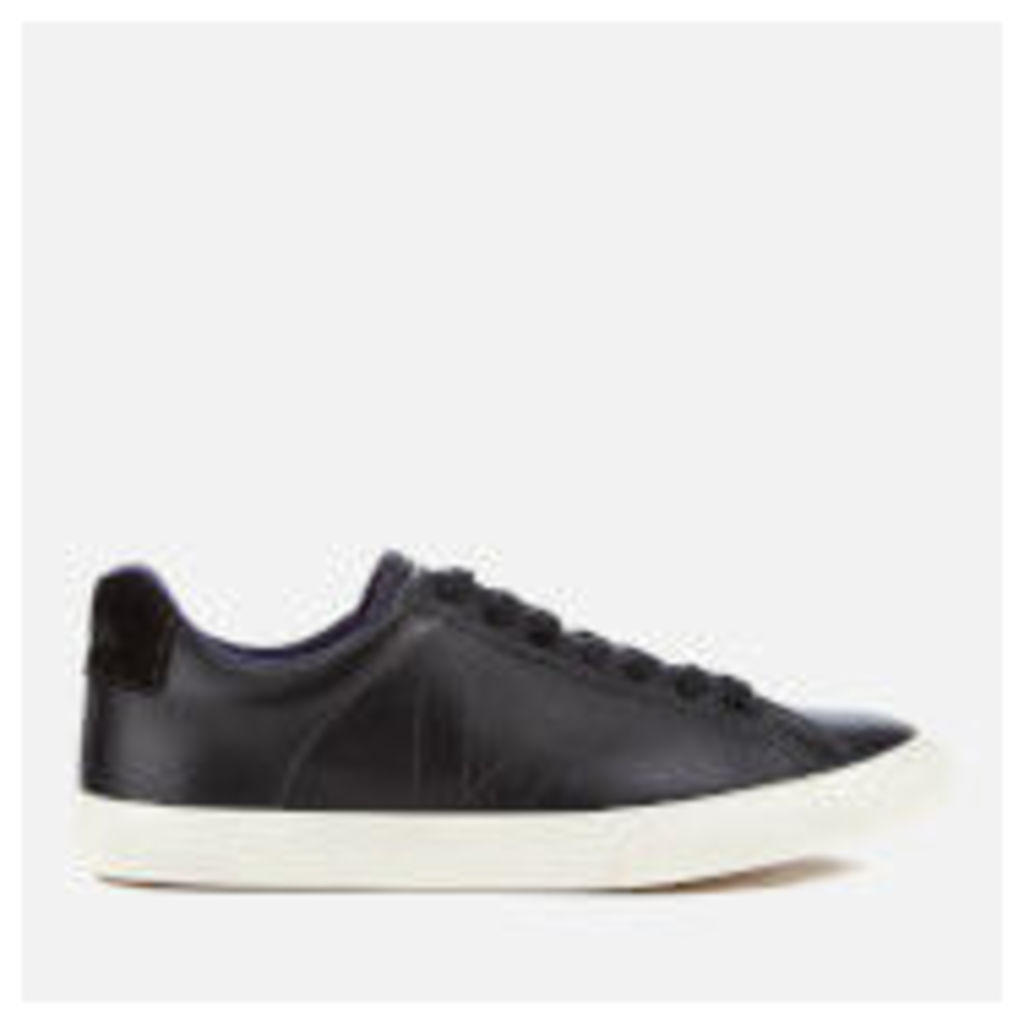 Veja Women's Esplar Low Leather Trainers - Black