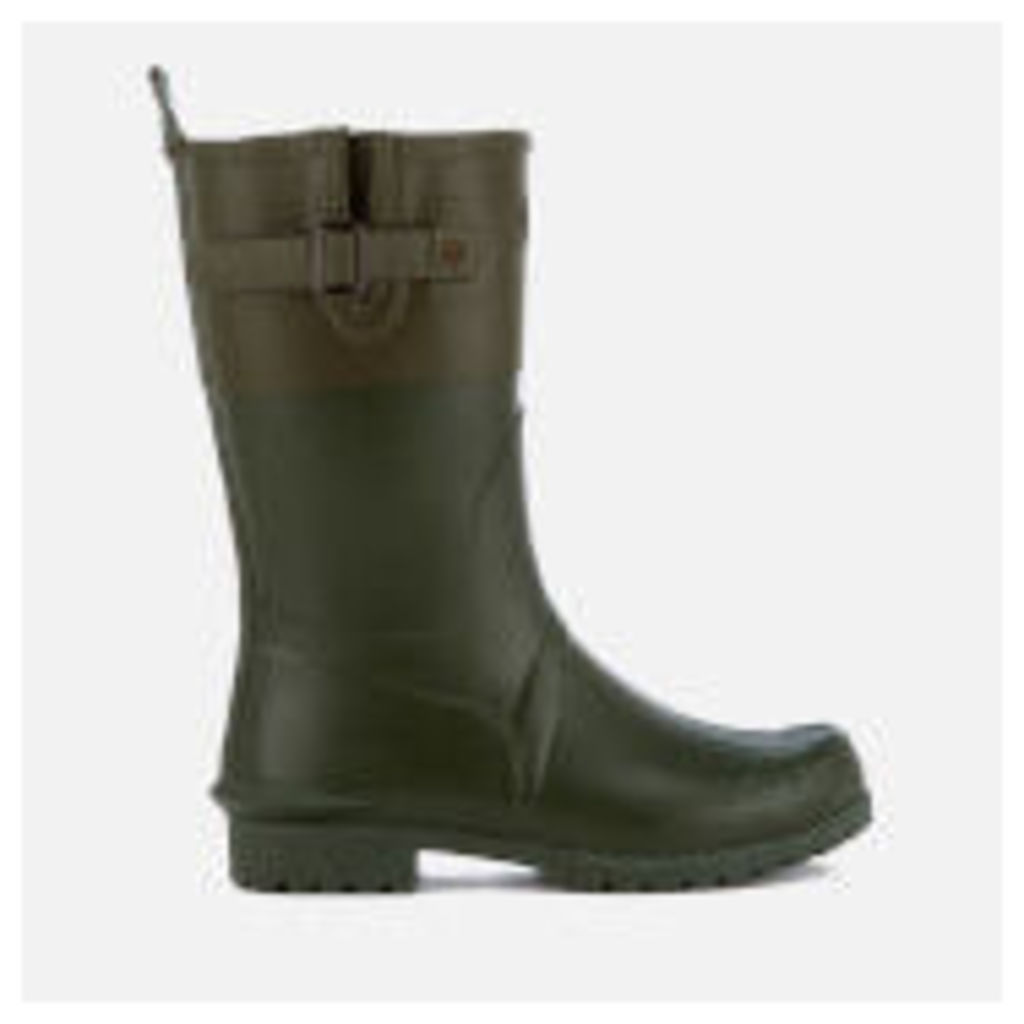 Barbour Women's Colour Block Short Wellies - Kelp/Khaki