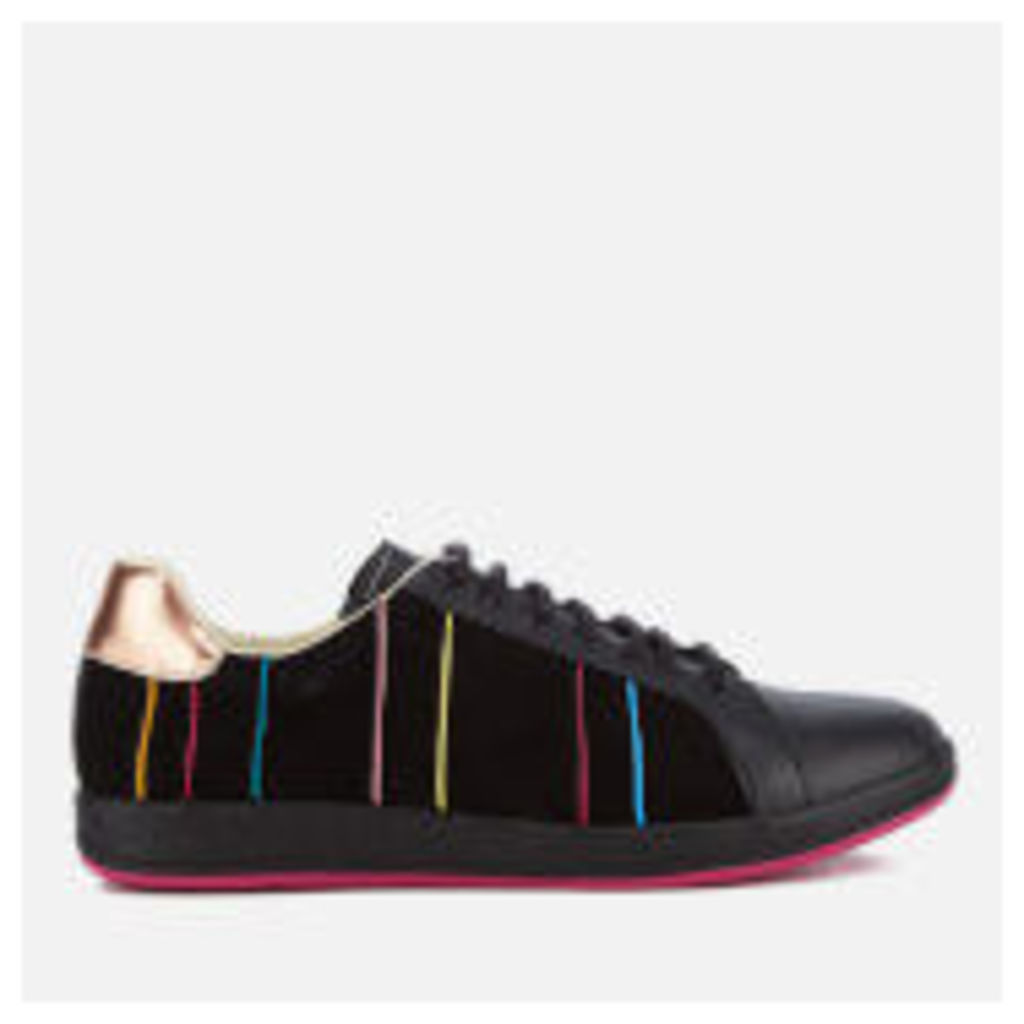 PS by Paul Smith Women's Lapin Suede Striped Trainers - Black