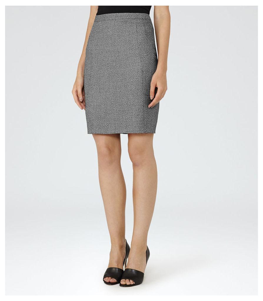 REISS Gabrielle Skirt - Pencil Skirt in Black, Womens
