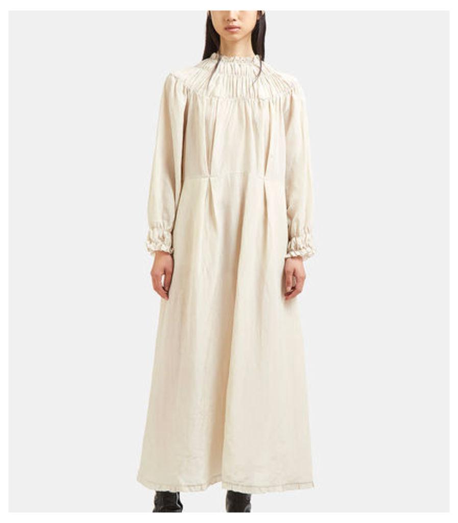 Long Ruched Elasticated Seam Dress