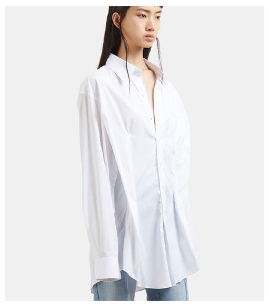Oversized Secretary Decollage Shirt