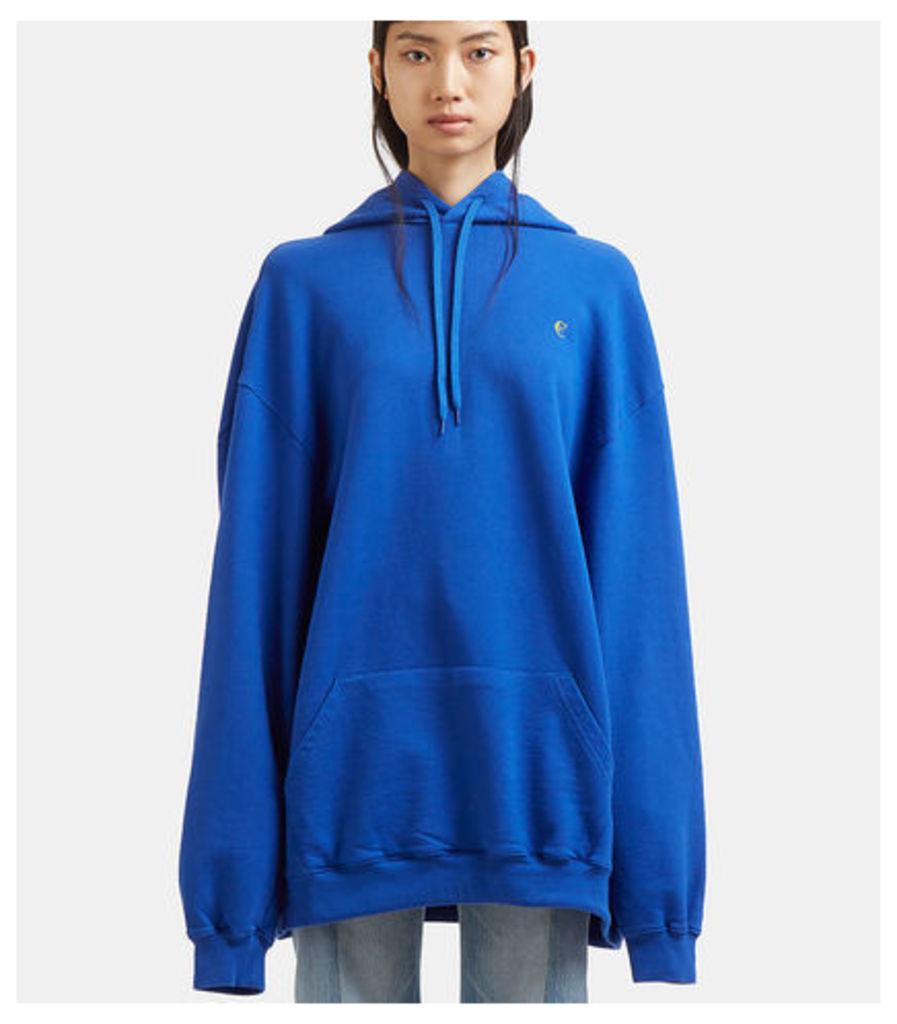 Oversized Euro Print Hooded Sweater