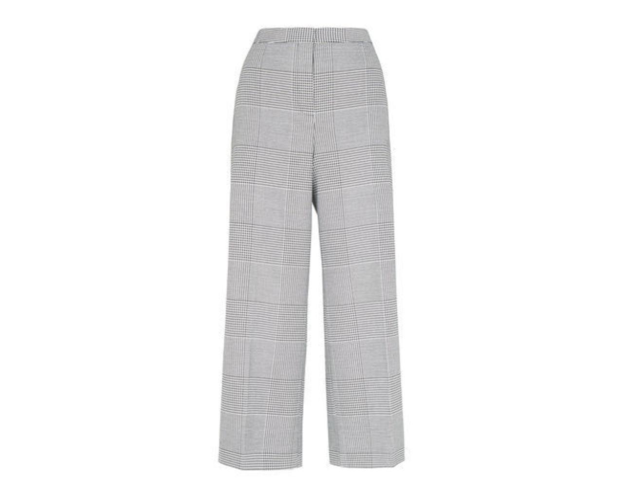Check Crop Wide Leg Trouser